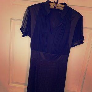 Antonio Melani black silk dress